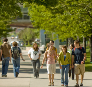 Students walking on CSU Campus