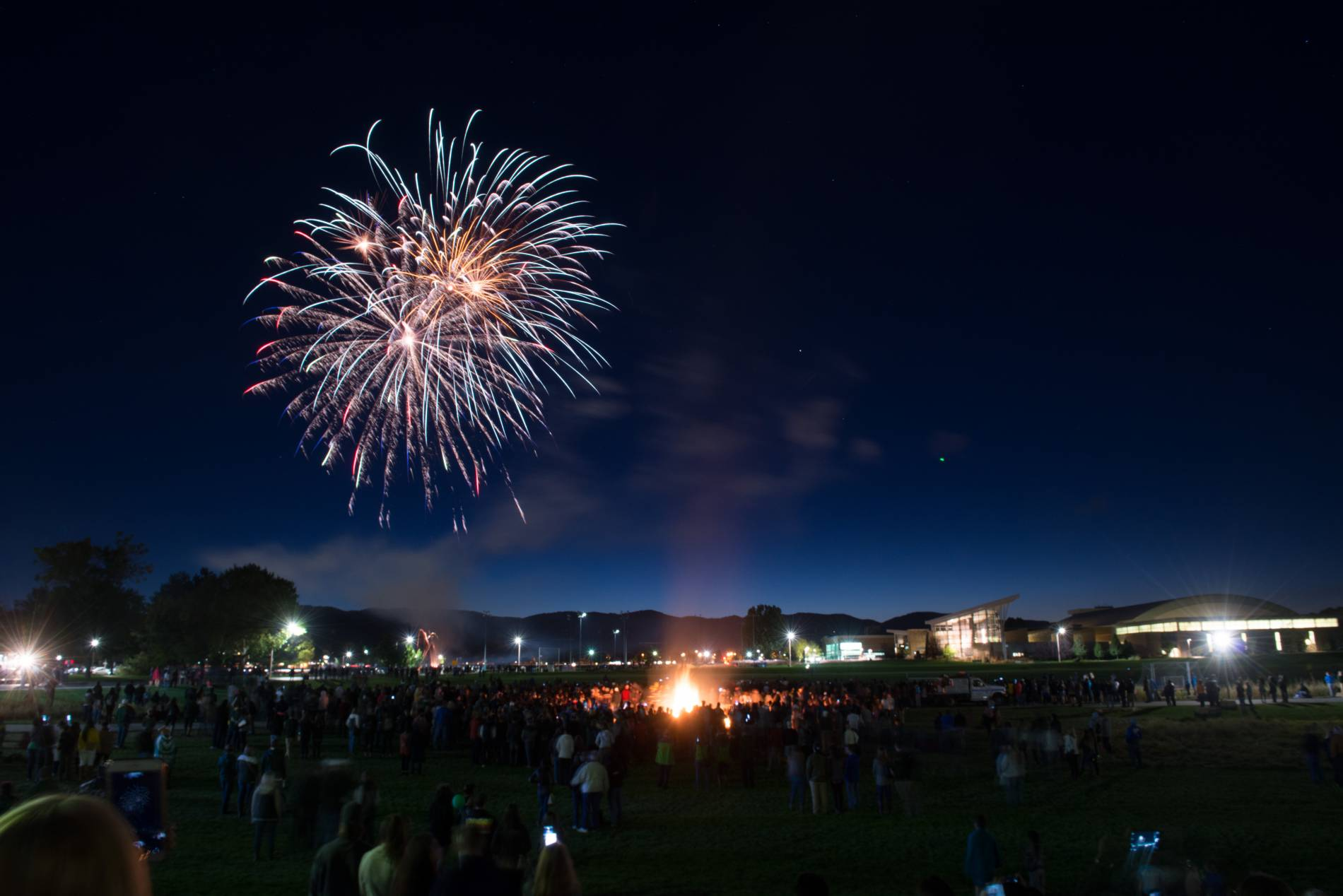 Fireworks and a Bonfire to celebrate CSU's Homecoming